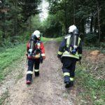 Spaziergang mit dem Atemschutzgerät