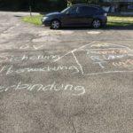 SÜV und ART mit Kreide auf den Boden geschrieben