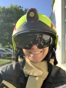 Neuer Helm mit Sonnenschutzvisier